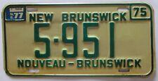 New Brunswick 1977 License Plate NICE QUALITY # 5-951