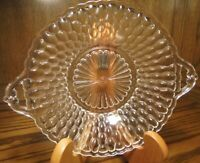 Vtg Clear Glass Serving Candy Nut Relish Bowl Dish Scalloped Edges w/Handles  62