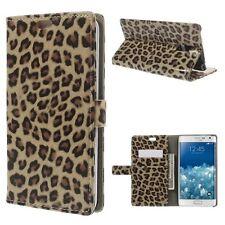 Flip Cover/Schutz-Hülle zu Samsung Galaxy Note Edge/SM-N915FY STAND BOOK LEOPARD
