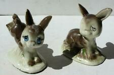 Donkey-Mule Figurines Cartoon-Comic Style Ceramic Porcelain Hand Painted Japan