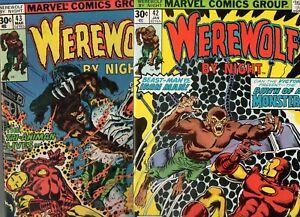 Werewolf by Night #43 & 42 RARE IRON MAN APP LOW PRINT LAST 2 ISS 1977 UNREAD NM