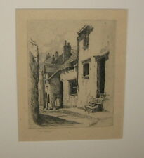 Original SEARS GALLAGHER 'Ilfracombe' England Resort Architecture SIGNED Etching