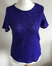 Dorothy Perkins Size 10 Ladies Short Sleeve Purple T Shirt Top With Sequins