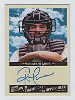 2009 UD Goodwin Champions Autograph Rick Cerone New York Yankees Catcher