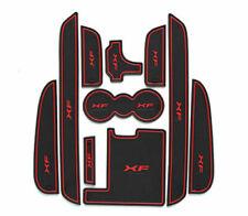 10Pcs XF Car Gate Slot Mats Door Grvooe Cup Holder Mat Red Brim For 2011-15 XF