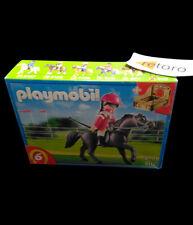 PLAYMOBIL 5112 CABALLO ARABE DE CARRERAS CON JOCKEY Y ESTABLO Arabic Horse New
