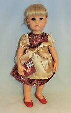 "Gotz Red and gold dress outfit fits other skinny 18"" dolls"