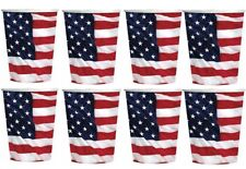 X 16 American USA Flag July 4th Party Celebration Paper Cups Tableware # 5850281