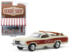 1973 FORD RANCHERO SQUIRE BEIGE W/SURFBOARDS 1/64 DIECAST CAR GREENLIGHT 97080 A