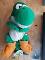 Vintage 1997 BD&A Nintendo Super Mario 64 Yoshi Bean Bag Plush Doll w/ Hang Tag