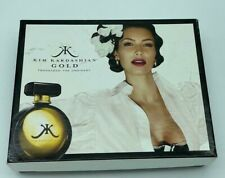 KIM KARDASHIAN GOLD 3PC SET PARFUM SPRAY 1.7 OZ + BODY WASH LOTION 3.4