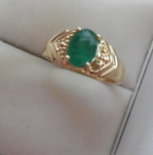14KT YELLOW GOLD RING W, EMERALD S-5