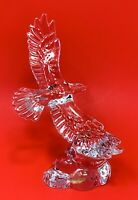 Wonders Of The Wild 24% Leaded Clear Crystal Glass Flying Bald Eagle Figurine