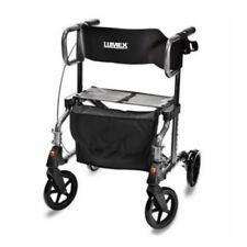Lumex Hybrid Lx Rollator - Titanium Transport Chair