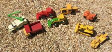 Hot Wheels Matchbox Lot Construction vehicle toys variety trucks-some vintage!