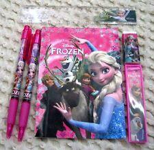 Disney Frozen Pink Stationary Set Character Pencil,Pen,Note Pad,Ruler,Eraser-New
