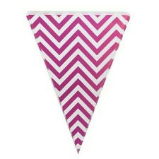 Party :  Chevron Flag Banner Banderitas Pink Party Decor