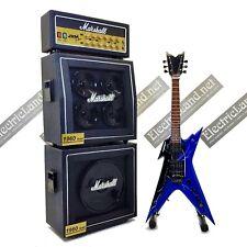 Mini Guitar dimebag darrell PANTERA Lightning + Amp 1:4 miniature collectible