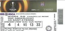 Ticket: Anderlecht - Saint-Etienne UEFA Europa League (8-12-16)