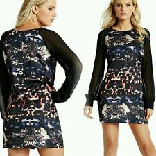NEW GUESS by Marciano Shady Hollow-Print Dress size XS