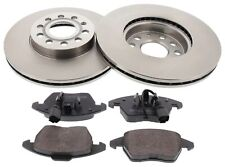 For Audi A3 Skoda Octavia VW Golf Jetta Touran Front Brake Discs + Pads Set