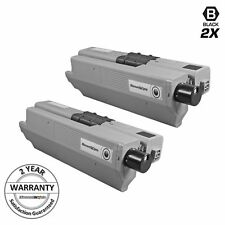 2pk Comp Black Toner Cartridge for Okidata Type C17 44469801 OKI MC361 MC362