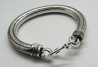 1 Piece Bracelets Snake Chain Bali Silver Chain 6mm Round Chain 7 Inch Long