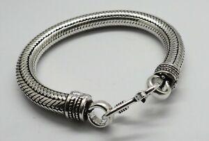 1 Piece Silver Bracelets Bali Silver Chian Bracelet 19 cm Long 8mm Round Chain