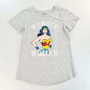 WONDER WOMAN Womens Grey T Shirt Size 8
