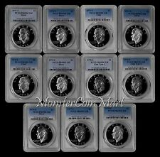 1971-1978 EISENHOWER (IKE) DOLLAR PCGS PR69DCAM - 11 COIN SET - GREAT QUALITY !