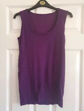 Atmosphere Sleeveless Long Purple Top Size 12