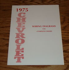 1975 Chevrolet Passenger Car Wiring Diagrams Complete Chassis 75 Chevy