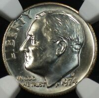 1974-D Roosevelt Dime NGC graded MS 65