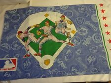 Vintage MAJOR LEAGUE BASEBALL Novelty Bed  PILLOW CASE Standard sz Decoration