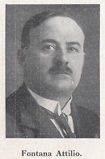 G5210 Ritratto del deputato Fontana attilio - 1924 Stampa epoca - Vintage Print