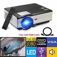 CAIWEI HD LED Beamer HD 1080P Heimkino Projektor Filme USB+HDMI Kabel 4500lumen