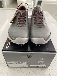 BRAND NEW MEN ECCO BIOM NATURAL MOTION GRAY LEATHWR GOLF SHOES SIZE  10 Eu44