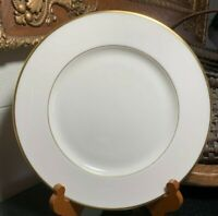 "Lenox Mansfield 10 5/8"" Dinner Plate Gold Trim USA Excellent - 5 Available"