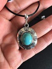 Necklace Silver Turquoise Aztec Hippie Bohemian Ethnic Boho Tribal N1088