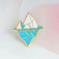 Cartoon Antarctic Iceberg Shape Enamel Brooch Collar Badge Jewelry Pin Kids Gift