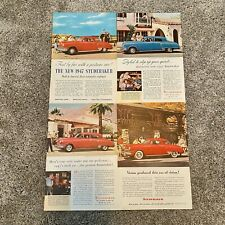 Lot Of 4 Vintage 1947 Studebaker Print Ads - 1946 Red Blue Photo Advertisements