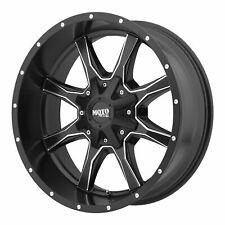 "Moto Metal 17x8 MO970 Wheel Satin Black Milled 5x160 PCD +42mm Offset 6.15""BS"