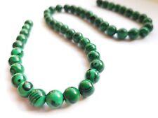 Malachite 8mm Round Beads Green Black DIY Jewellery Bracelet Making