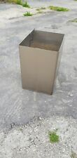 More details for 4 modern contemporary stainless steel garden planters large x 4