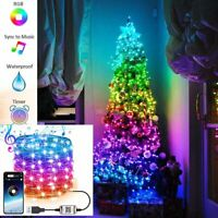Christmas Tree LED Light String Fairy Smart Bluetooth App Control Party Lamp