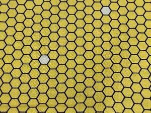 Fabric Honeycomb Bee Full Cotton QT 1/4 Yard 7612-S