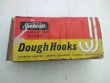 VINTAGE SUNBEAM MIXMASTER FOOD MIXER ACCESSORY 2 DOUGH HOOKS. NEW OLD STOCK
