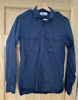 Stone Island Blue Shirt Small XS Men's Authentic