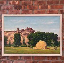 American Scene Regionalist Artist James Chapin Signed O/C. Utah Landscape.
