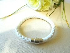 New Bracelet Clip-On White Silver Tone Jewelry US Seller Stock
